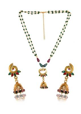 Kshitij Pretty Beaded pendants with jhumki