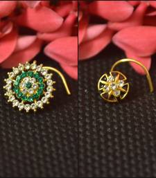 COMBO of Designer Twinkling Fancy cubic zirconia nose ring or Nose Pin