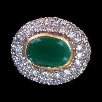 crimson Emerald in a lovely teardrop shape ring