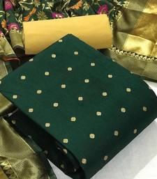 Green banarasi banarasi silk salwar