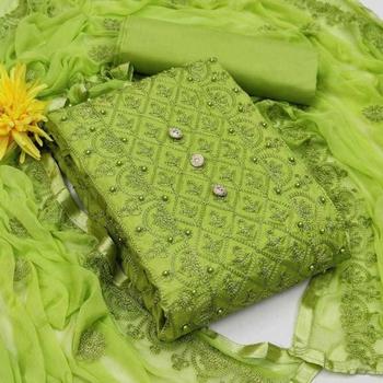 Green aari cotton salwar