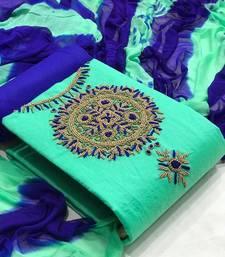 VredeVogel Cotton Self Design Salwar Suit Material  (Unstitched)