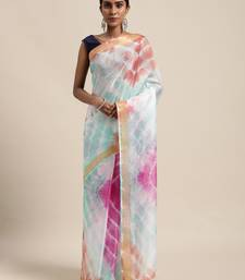 Multi Hand Crafted tie & dye/Bandhani multi colour art Kota silk saree
