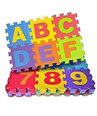 Puzzle Foam Mat for Kids Alphabet And Numbers Floor Mat for Baby Kids Playing (36 Pieces)