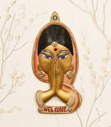 eCraftIndia Welcome Lady Metal Colorful Wall Hanging