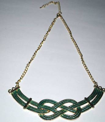 Green infinity necklace