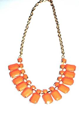 Orange albaster necklace