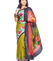 Buy MultiColor hand_woven Pure Sonamukhi Silk  saree with blouse silk-saree online
