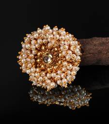 Gold Plated Pearl Studded Rings