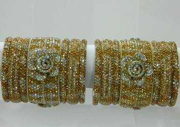 Indian Flower bridal Lakh Bangle