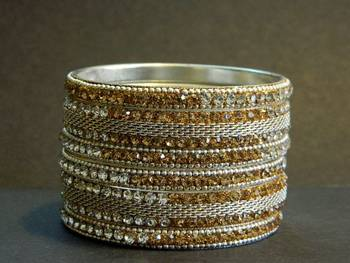Indian bollywood Golden kundan Bangle