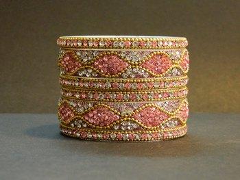 Indian handmade designer Pink Bangle