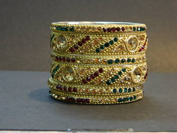 Indian handmade bridal Maroon Stone Bangles