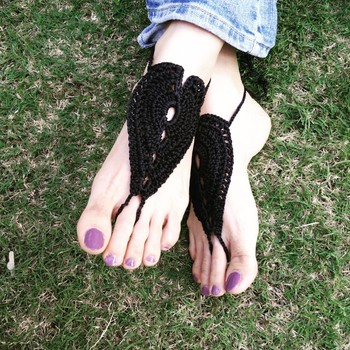 Black feet thongs 2