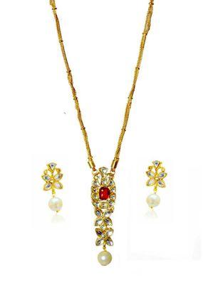 Kshitij Floral Gold pendants