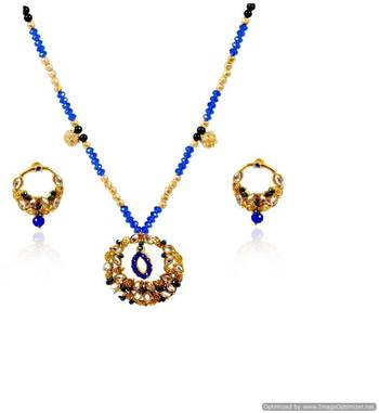 Kshitij Charming Ruby Necklace Set