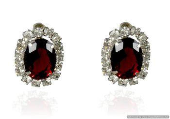 Kshitij Jewels Crystal Studs