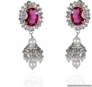 Kshitij Light Purple Radiance Chandelier Earrings