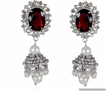 Kshitij Light Maroon Radiance Chandelier Earrings