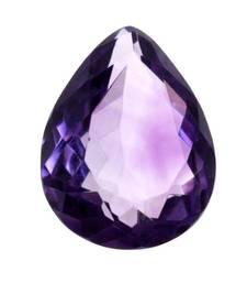 Natural Certified Amethyst Gemstone 3.25 Ratti 2.95 Carat Katela Pear Shape Rashi Ratan