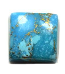 Genuine Copper Turquoise Stone 3.25 Ratti 2.95 Carat Square Loose Firoza at Wholesale Rate