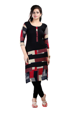 black Viscose Party wear Awesome Kurti