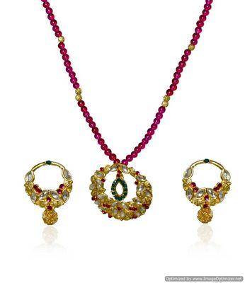 Kshitij Ethnic Multicoloured Necklace Set