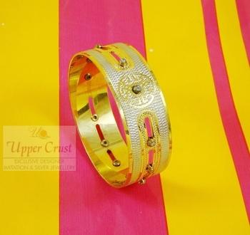 Gold Plated Diamond Dancing Bangle Kada