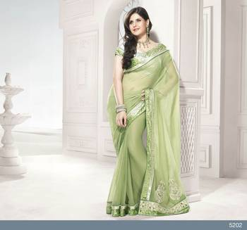 Designer Elegant Zarine Khan Bollywood Sari STUDIO5202