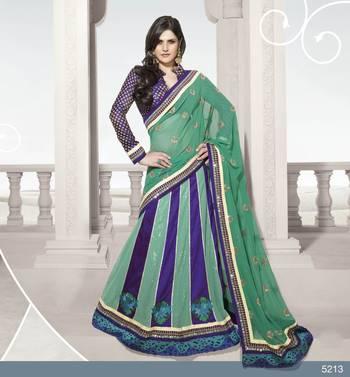 Designer Elegant Zarine Khan Bollywood Sari STUDIO5213