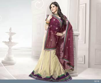Designer Elegant Zarine Khan Bollywood Sari STUDIO5218