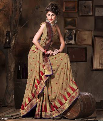 Designer Elegant Designer Sari Dhamaal4009