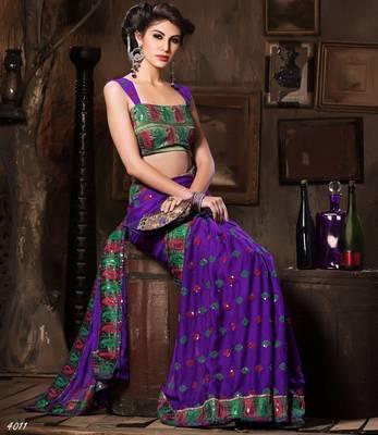 Designer Elegant Designer Sari Dhamaal4011