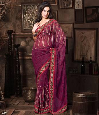 Designer Elegant Designer Sari Dhamaal4013