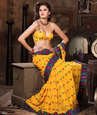 Designer Elegant Designer Sari Dhamaal4017