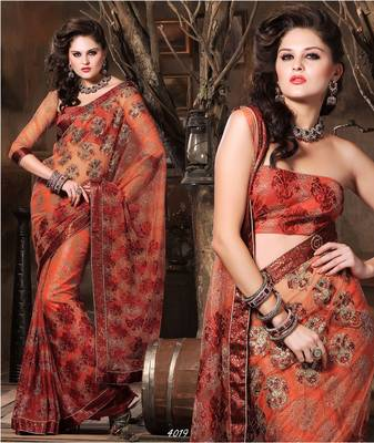 Designer Elegant Designer Sari Dhamaal4019