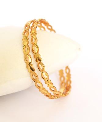 Gold Plated Machine Cut Bangles