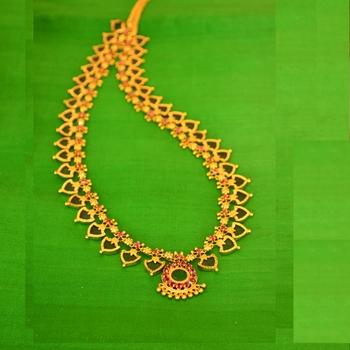 Green Long Palakk Necklace