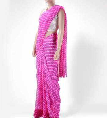 Pretty Pink Leheriya Saree