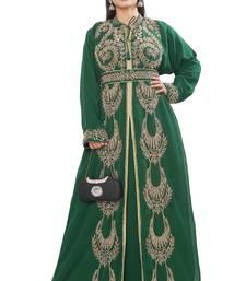Dubai Moroccan Kaftan Arabic Abaya Hand Beaded Caftan Wedding Stylish Jalabiya Women Dress...