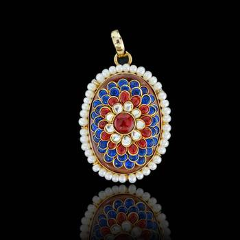 South Indian Pachi Pendant