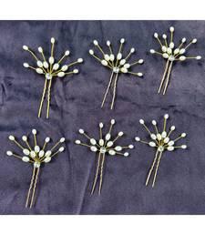 Cream Yellow Gold  Hair Pins