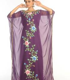 Shop Ethnic Maxi Abaya Moroccan Islamic Kaftan Beach Fancy Modern Floor Length Half Sleeve For Women Dress
