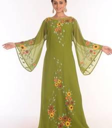 SALE !! Moroccan Islamic Kaftan Beach Fancy Modern Floor Length Bell Sleeve For Women Dress