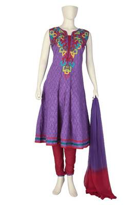 Just Women -  Slate Blue Salwar Set