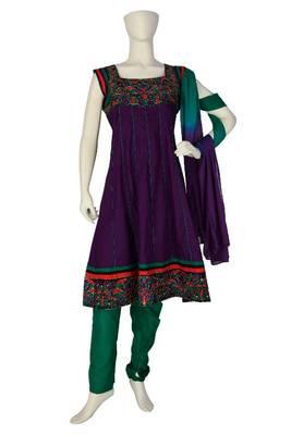 Just Women - Royal Purple Salwar Set