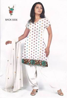 White Unstitched Salwar Suit, by Just Women