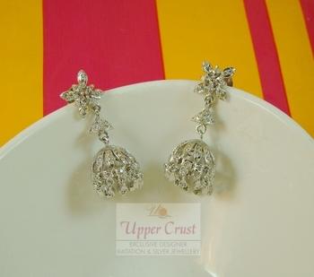 Zircon Jhumka Jhumki Earrings