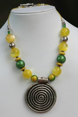 Sunshine Yellow and Green Necklace.