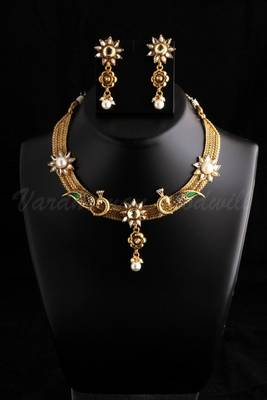 polki necklace in moti designs vgnl 488